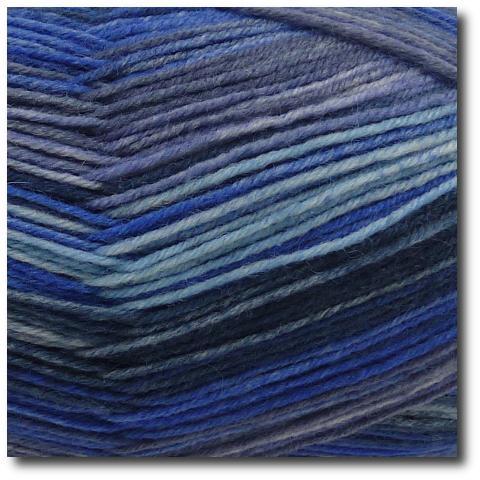 Samovzorovací ponožková příze 4-vrstvá Bouřlivé moře