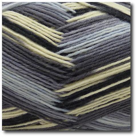 Samovzorovací ponožková příze 6-vrstvá Holubí šedá