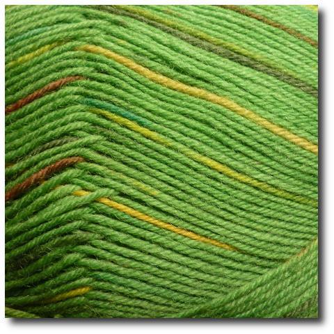 Samovzorovací ponožková příze 4-vrstvá Zelený mech