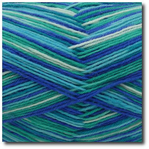 Samovzorovací ponožková příze 4-vrstvá Modrá laguna