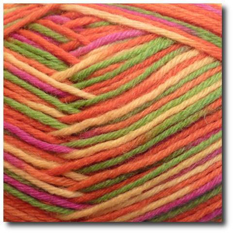 Samovzorovací ponožková příze 6-vrstvá Pomerančový háj