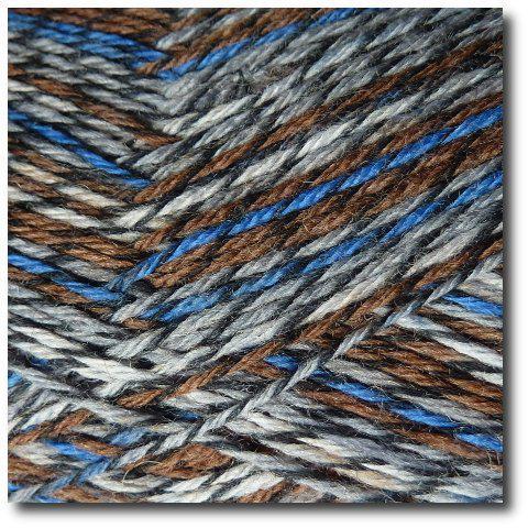 Samovzorovací ponožková příze Modré bobule