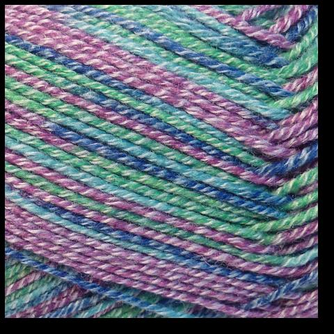 Samovzorovací ponožková příze 4-vrstev Kapradina