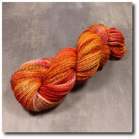 Ručně barvená příze Červený pomeranč 4 vrstvy