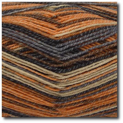 Samovzorovací ponožková příze 4-vrstvá s bavlnou Topaz