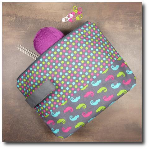 ručně vyrobená taška na pletení Chameleon