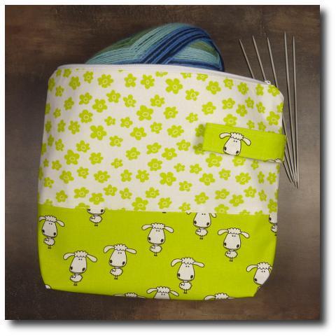 ručně vyrobená taška na pletení Kytička