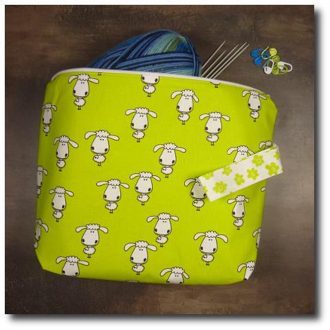 ručně vyrobená taška na pletení Ovečka